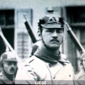 Les troupes allemandes entrent a Liege