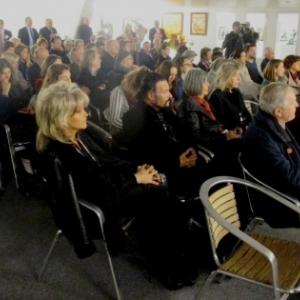 L'assistance a la conference de presse