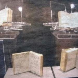 Ensemble des codex de Leonardo reproduits a l'identique