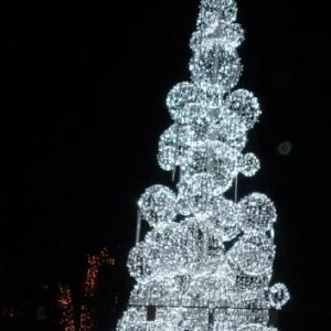 Decorations lumineuses de Nicosie grecque