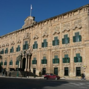 L'auberge de Castille et Leon, certainement l'edifice baroque le plus representatif de Malte.
