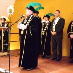 Reception de l'Orde do Cwarme : intervention de Robert DENIQS, aine des Presidents d'Honneur