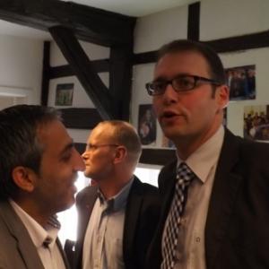 Reception : M. Jean-Paul Bastin, Bourgmestre avec Ersel Kaynak, Echevin