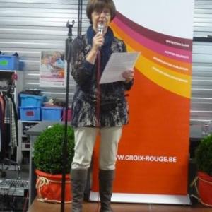 Intervention de Mme Delcourt, Presidente de la Maison Croix - Rouge de Malmedy - Waimes