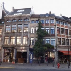 Liege : Promenade dans le quartier de Feronstree ( maisons de commerce )