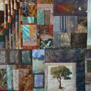 Jenny JORIS Malmedy (Patchwork - Aquarelle - Paysages tisses ) 080 / 33 07 87