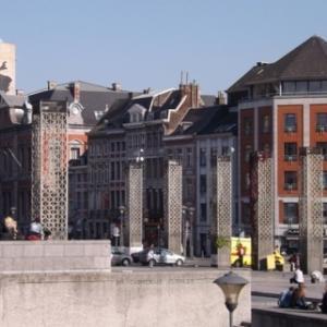 Liege : ancien emplacement de la Cathedrale ( en sous-sol L'Archeoforum )