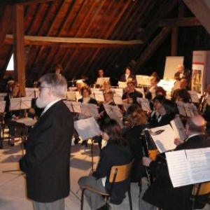 """La Royale Harmonie """"La Fraternite"""" avant l' interpretation de """"Patchwork des tribus americaines"""""""