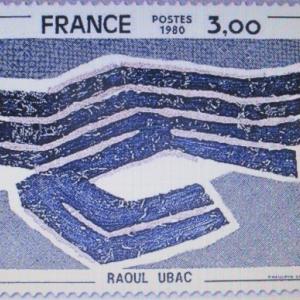 L'artiste Ubac sur un timbre français