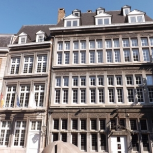 Liege : Promenade dans le quartier de Feronstree ( facade typique )