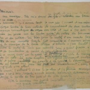 Manuscrit evoquant l'amour d'Ensor pour la musique