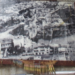 Mostar : photo du pont demoli