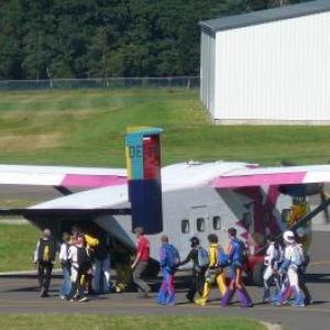 Embarquement des parachutistes