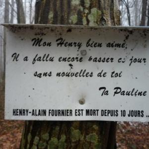"""""""Mon Henry bien aime, il a fallu encore passer ce jour sans nouvelles de toi,  Ta Pauline """""""