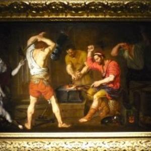 """ Venus dans la forge de Vulcain "" ( Gerard DOUFFET / vers 1645 )"