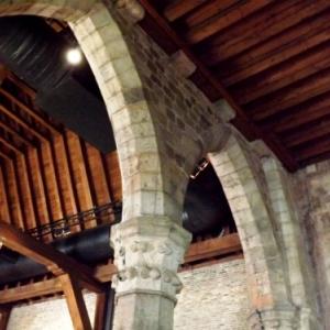 Plafond et colonnes du musee