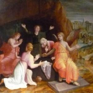 """ Saintes femmes au tombeau "" ( Lambert Lombard )"