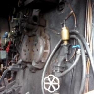 Le poste de conduite de la locomotive