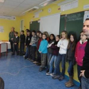 Presentation du groupe belge aux hotes francais