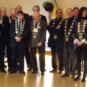 Reception de l'Orde do Cwarme : Mme Jaddin, Ms Dahmen, de Bournonville, Happart, Debure, Pellis, Duez, Moxhet, George, Piot, Mathonet, Mestrez et Siquet