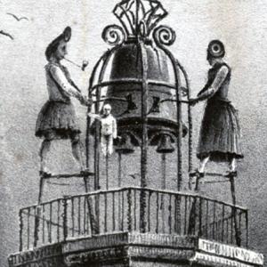 Après la Révolution française, la famille « Jacmart » en bleu-blanc-rouge porte la cocarde tricolore. ( Bibliothèque municipale de Dijon )