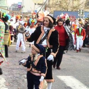 """Costume traditionnel """" Lu Veheu """" ( le putois ) le plus ancien masque"""