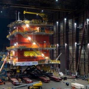 Installation du réseau modulaire offshore (MOG) / photo Elia