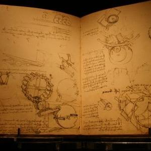 Un codex de Leonardo parmi de nombreux autres