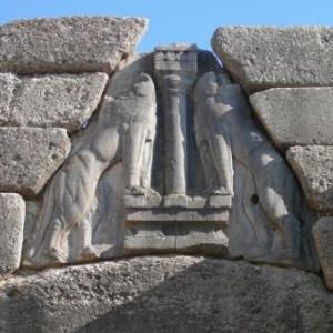 Mycenes : la porte des Lions