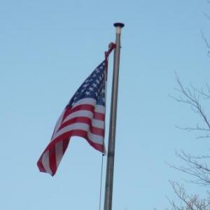 Le drapeau americain flotte en permanence sur Baugnez