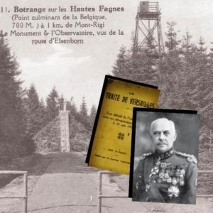 Le monument du Traite de Versailles au Signal de Botrange et le General Baltia