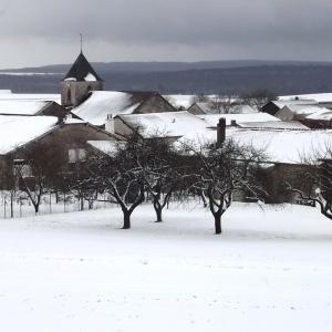 Colombey  les Deux Eglises sous la neige