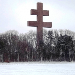 """La """"Croix de Lorraine"""" près du Mémorial"""