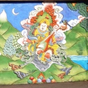 Fresque murale de style bouthanais