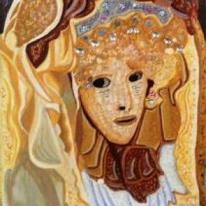 Peinture a l'oeuf de Jackie Goffinet