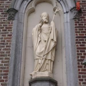 St Heribert, patron de la paroisse de Remersdael