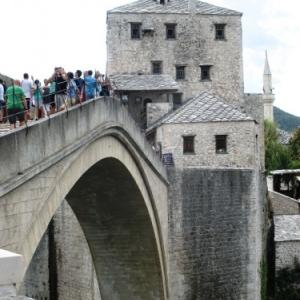 Mostar : le pont sur la Neretva