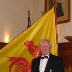 Alphonse Nicolet lors de la reception a l'Hotel de ville en 2004