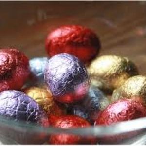 Des oeufs en chocolat