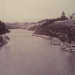 Les eaux ont recouvert les derniers vestiges du moulin de Reinhardstein