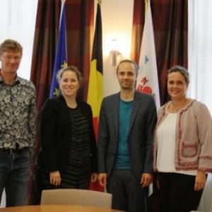 Les organisateurs de l'ATCE et Mme la Ministre