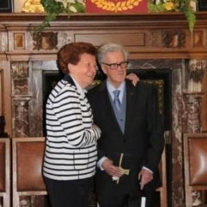 Reception communale : Henri et Mme Lekeu ( photo de Michael ALMER )