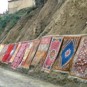 Vente de tapis ( Vallee de l'Ourika )