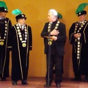 Reception de l'Orde do Cwarme : prestation de serment de Michel FORET, Gouverneur de la province de Liege
