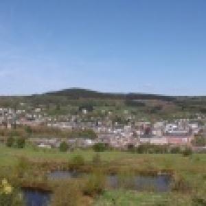 Vue panoramique de Stavelot depuis le Stockeu