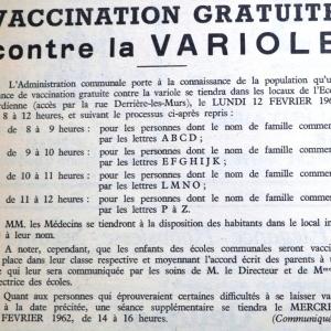 """Vaccination publique et gratuite ( """" Nouvelles de Malmedy du 3 février 1962 """" )"""
