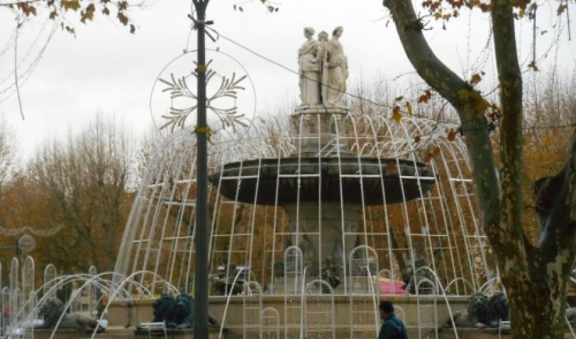 aix en provence - ville aux cent fontaines - la rotonde