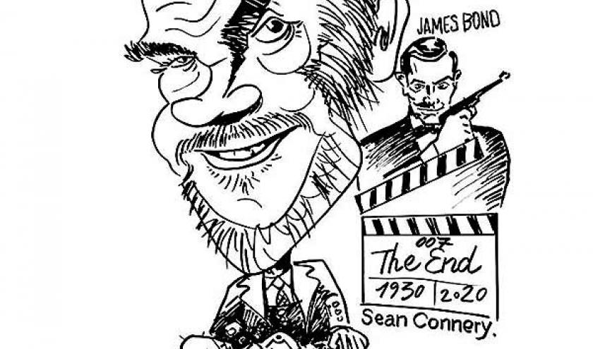 caricature_Sean Connery. James Bond.007