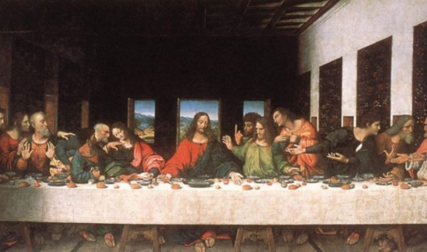 Leonard de Vinci. La Cene.