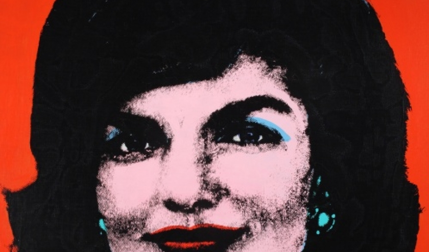 Red Jackie, 1964, Acryl en zeefdruk op textiel, Collection of The Andy Warhol Museum, Pittsburgh, © The Andy Warhol Foundation for the Visual Arts, Inc. / SABAM Belgium 2013